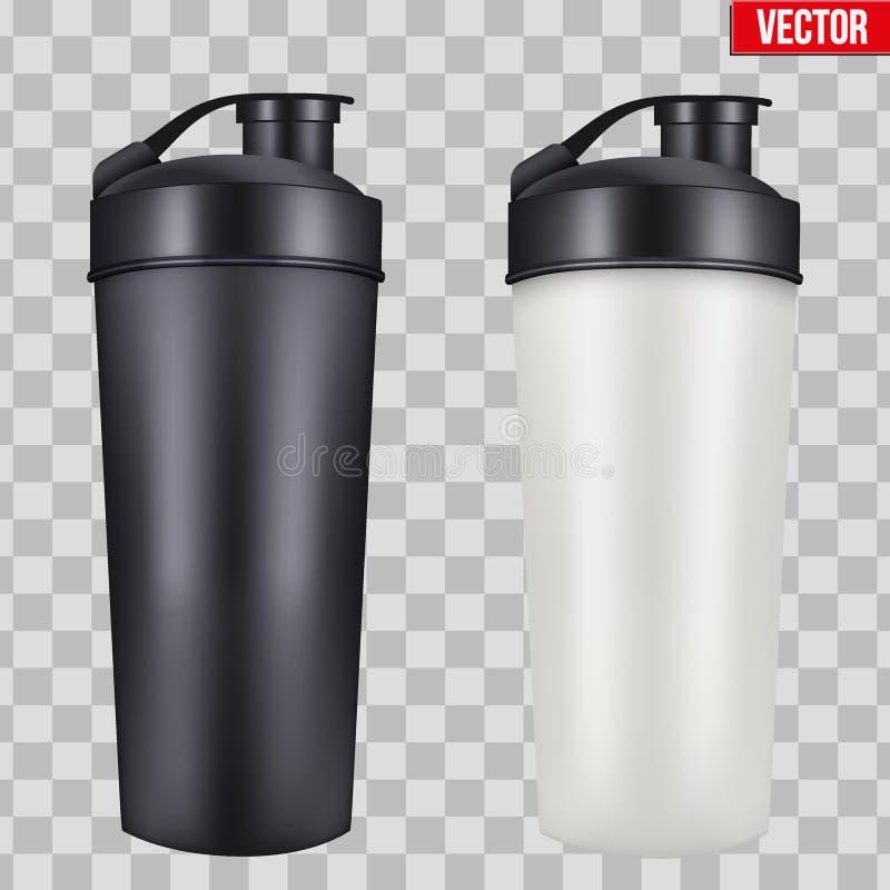 大模型塑料体育营养饮料瓶 向量例证