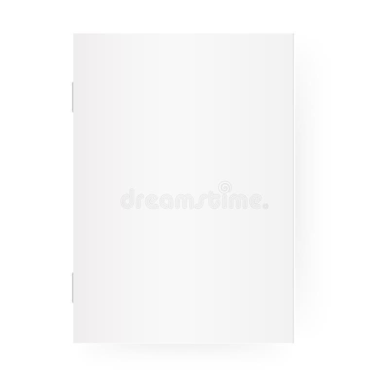 大模型空小册子 闭合的垂直3d杂志、小册子或者笔记本模板 背景查出的白色 向量 库存例证