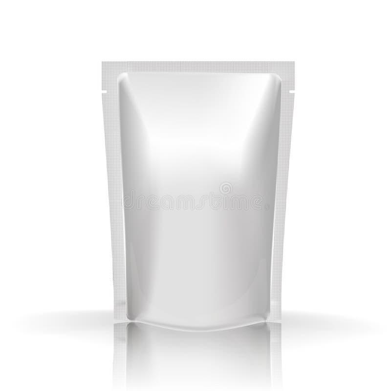 大模型空白的箔食物或饮料 皇族释放例证