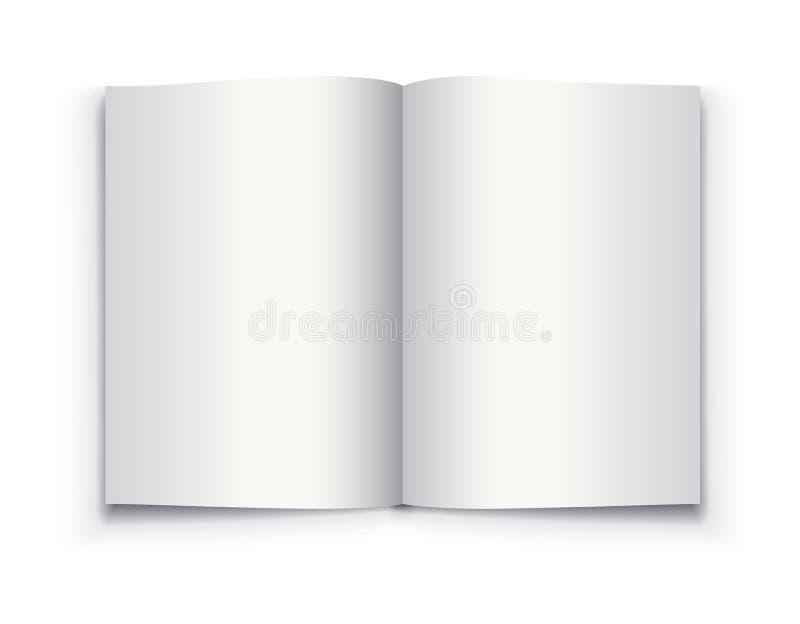 大模型被打开的书模板 皇族释放例证