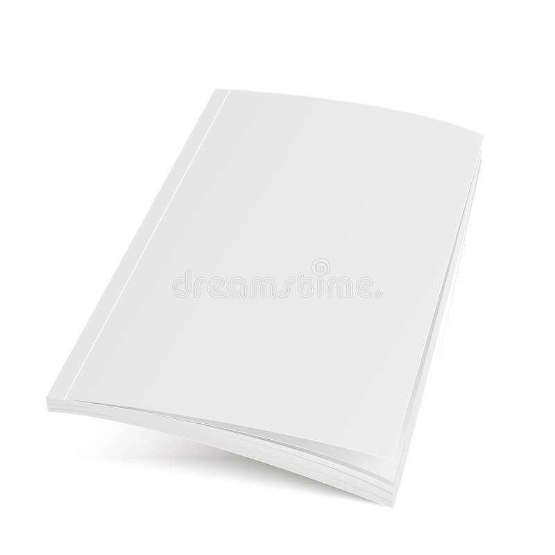 大模型被打开的杂志或小册子 向量 免版税库存照片