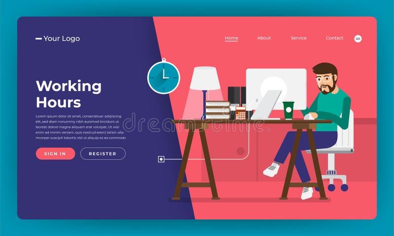 大模型设计网站平的设计观念工作时间工作者 库存例证