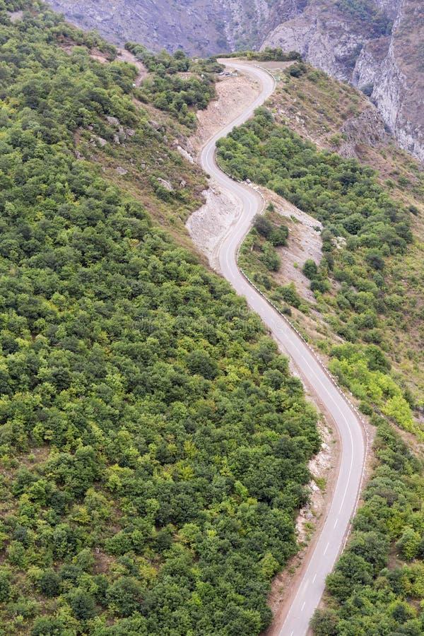 大横向山山 风景在亚美尼亚(Tatev) 免版税库存照片
