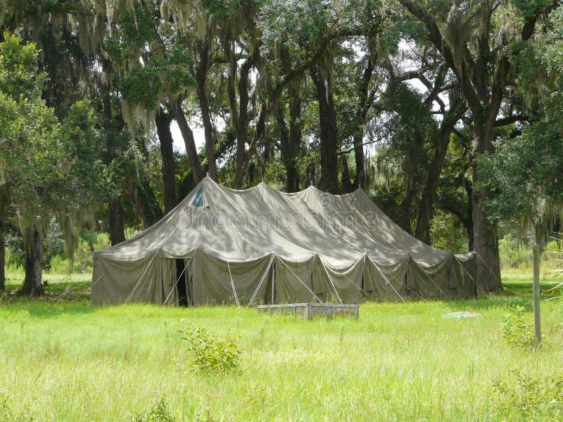 大橡木帐篷 库存照片