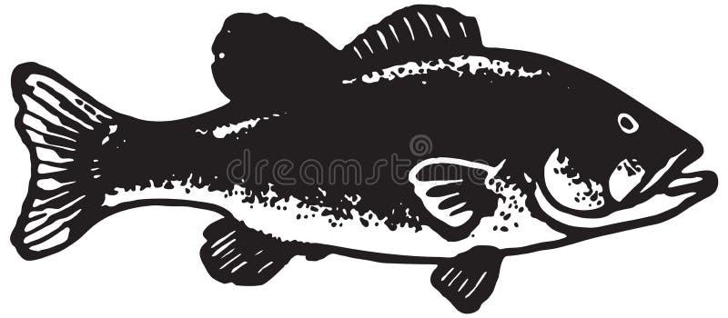 大比目鱼鱼 库存例证