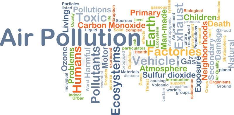 大气污染背景概念 库存例证