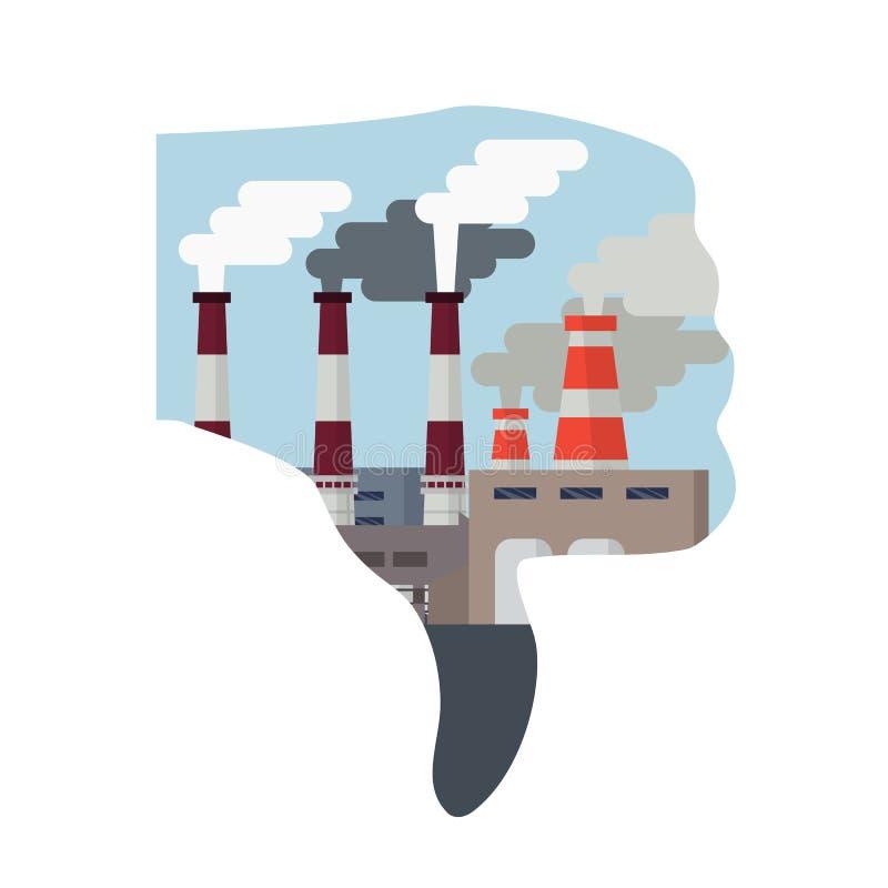 大气污染都市风景 向量例证