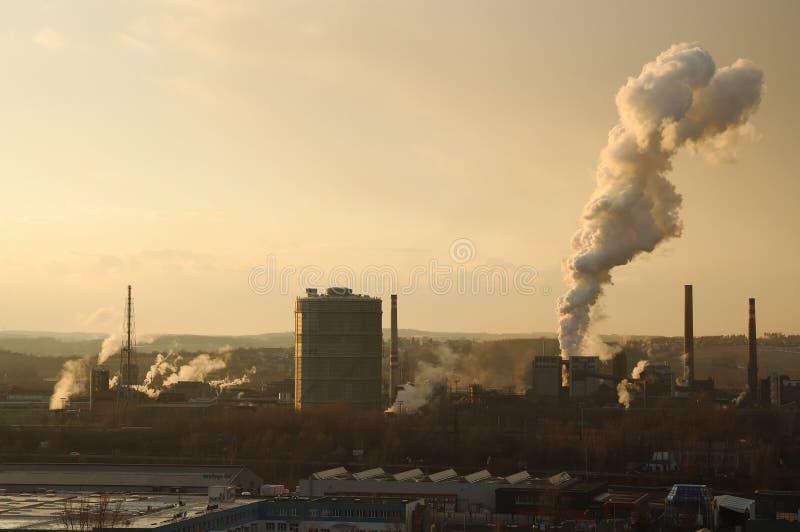 大气污染 免版税库存照片