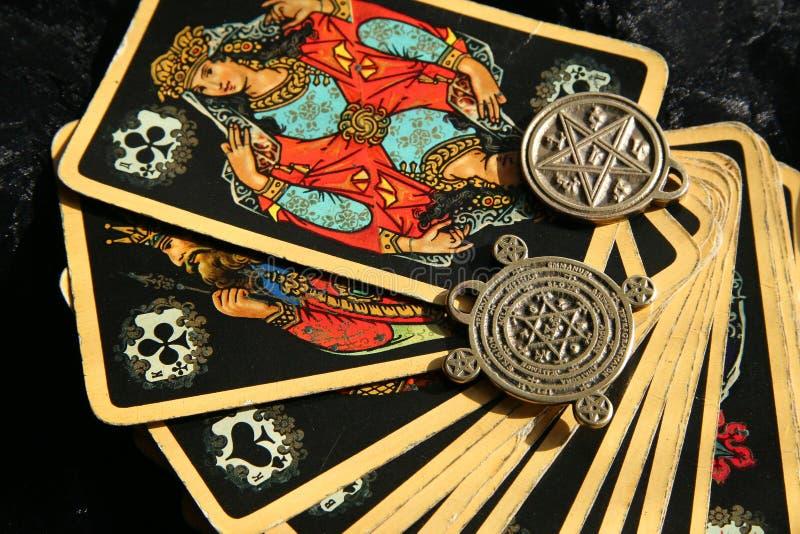 大气神秘的时运魔术出纳员巫婆 免版税库存照片