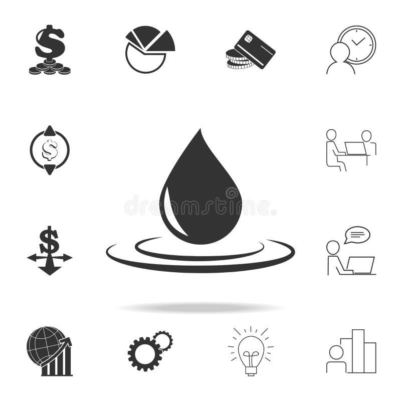 大油小滴象 详细的套财务、银行业务和赢利元素象 优质质量图形设计 一collec 库存例证