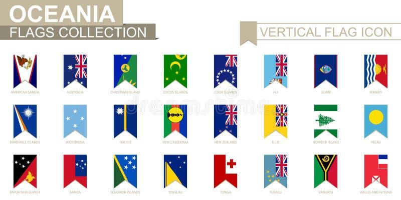 大洋洲垂直的旗子象  库存例证