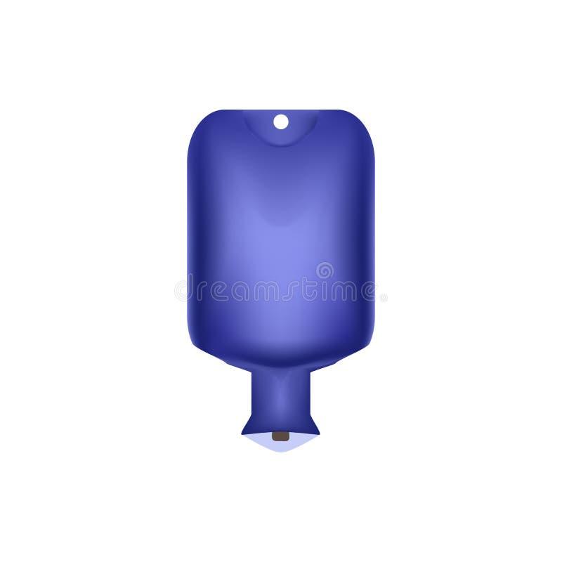 大海瓶 灌肠 取暖器 在被隔绝的背景的传染媒介例证 向量例证
