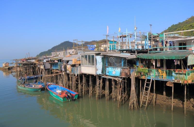 大澳村庄传统房子香港 免版税库存照片