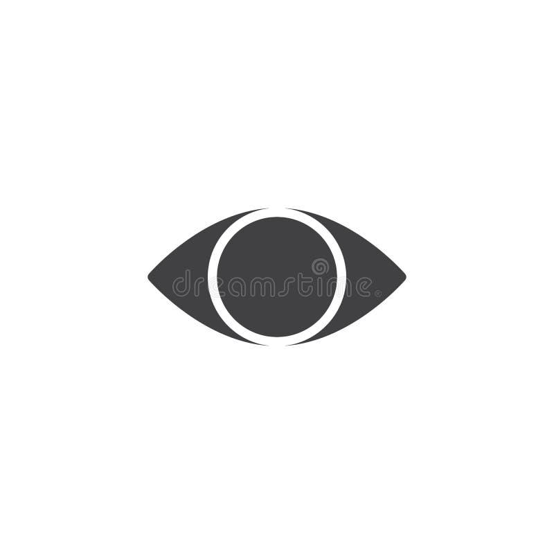 大瀑布眼睛传染媒介象 向量例证