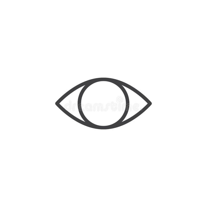 大瀑布眼睛概述象 库存例证