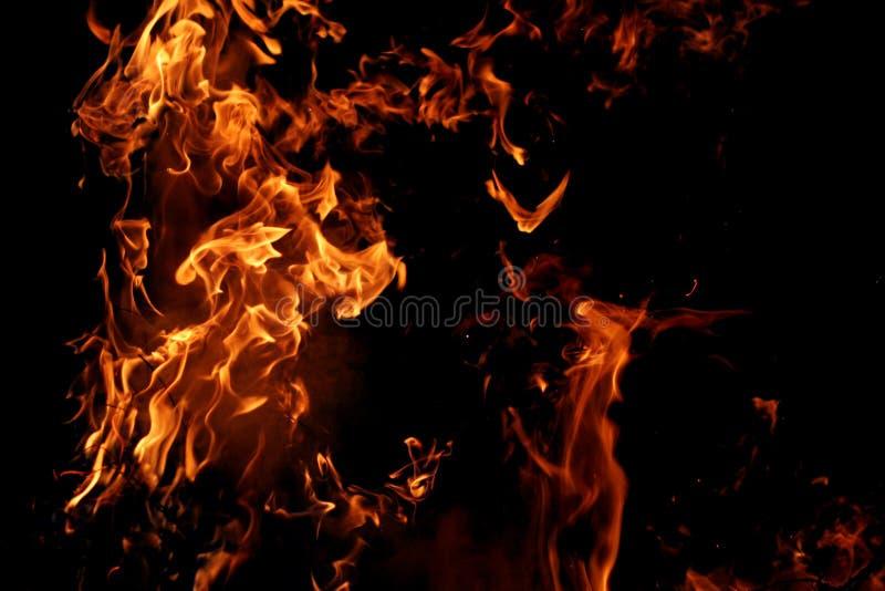 大火焰 免版税库存照片