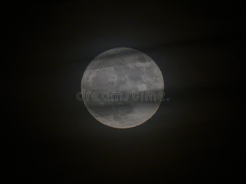 大灰色月亮 库存图片