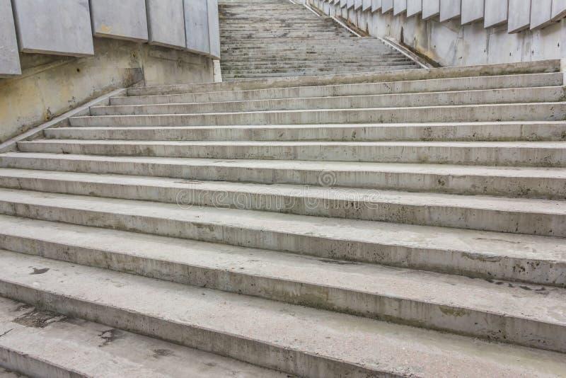 大灰色石步 免版税图库摄影