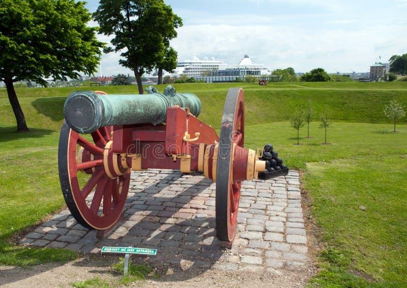 大炮城堡哥本哈根kastellet 免版税图库摄影
