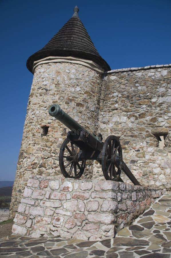 大炮城堡 库存照片
