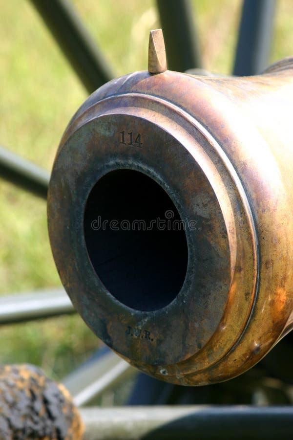 大炮末端 免版税库存照片