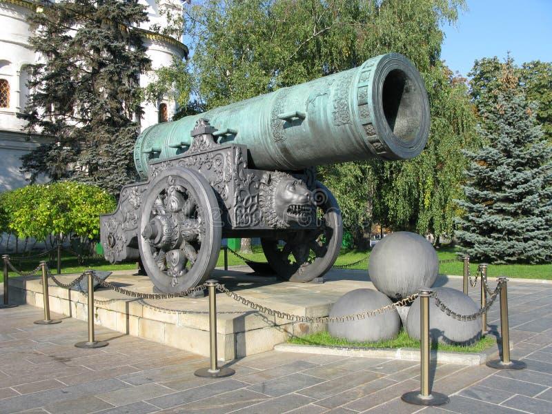 大炮tsar国王的pushka 库存照片