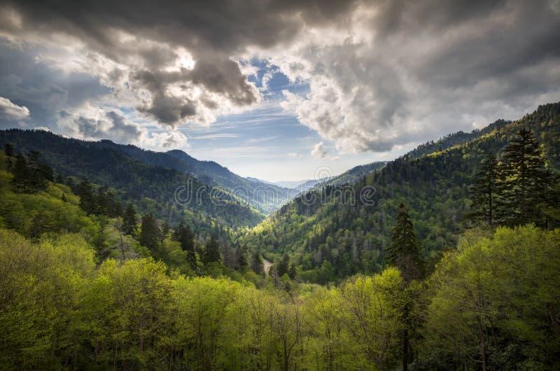 大烟雾弥漫的山脉国家公园Gatlinburg TN 免版税库存照片