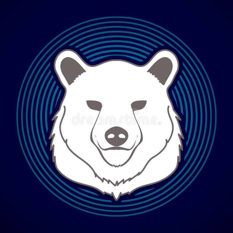 大熊头图表 库存例证