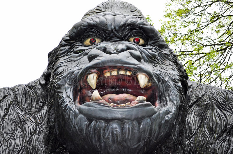 大猩猩可怕模型  库存图片