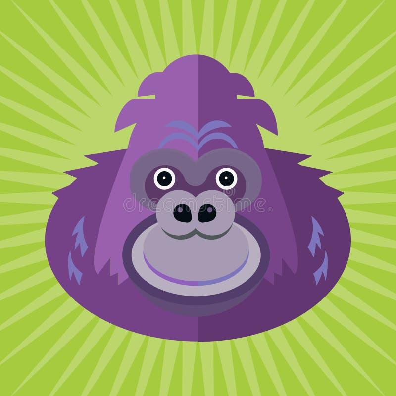 大猩猩的纵向 库存例证