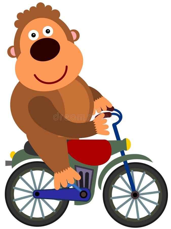 大猩猩的自行车 库存图片