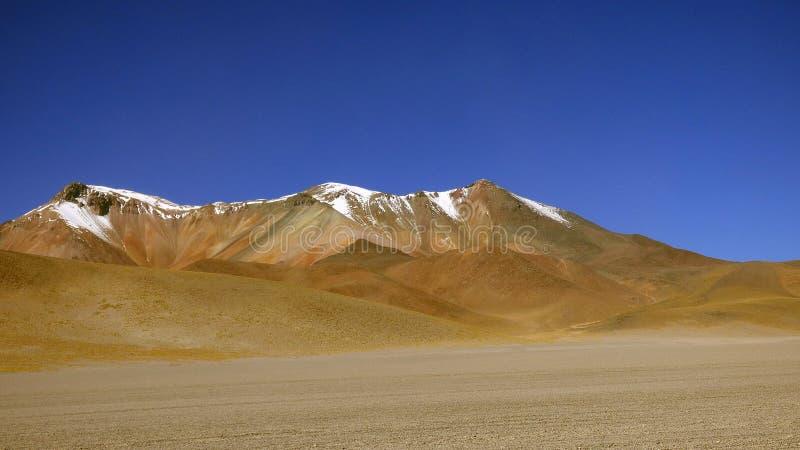 大理沙漠在Altiplano 玻利维亚,南美 免版税库存照片