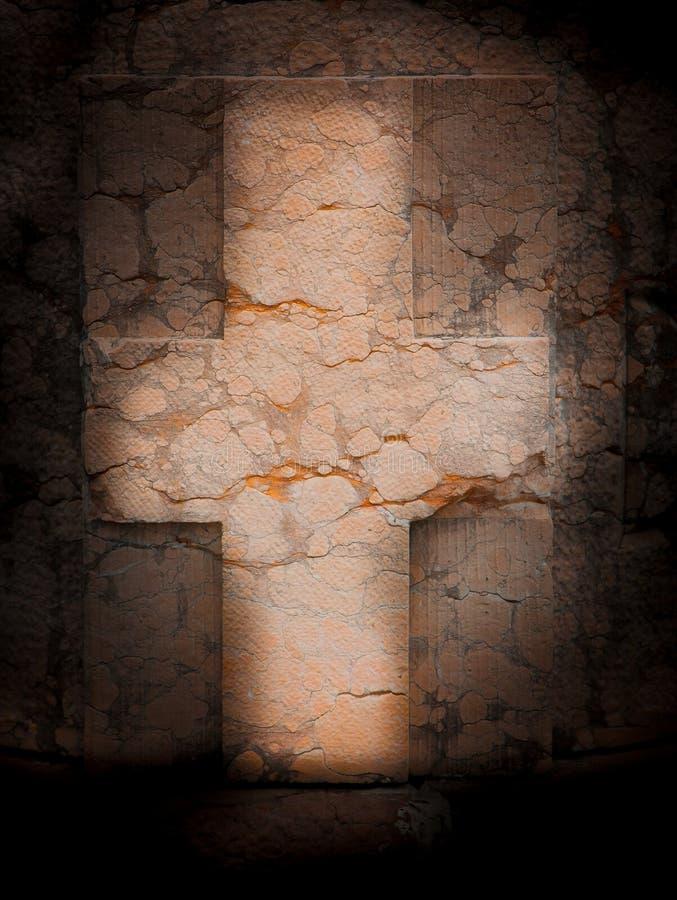 大理石十字架 向量例证
