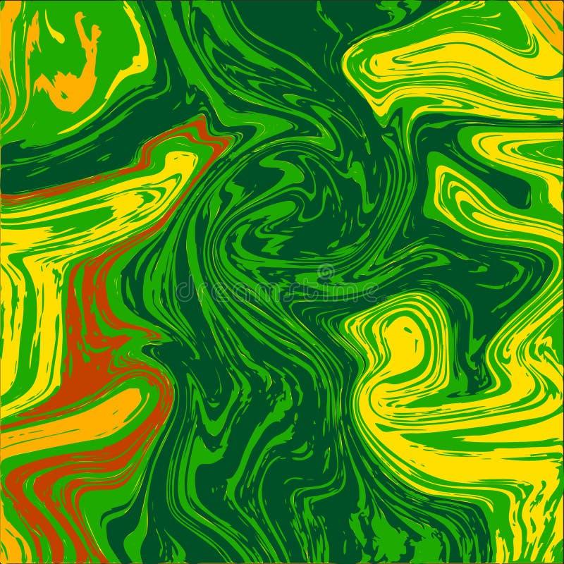 大理石墨水colorfull纹理使有大理石花纹的石传染媒介例证和抽象墙纸建筑学难倒表面 皇族释放例证