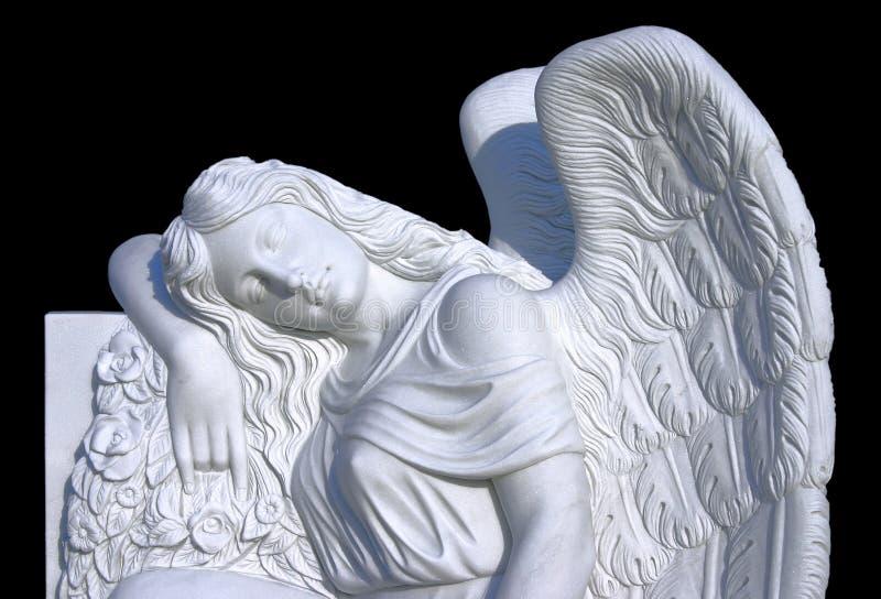 大理石天使雕塑照片  免版税库存照片