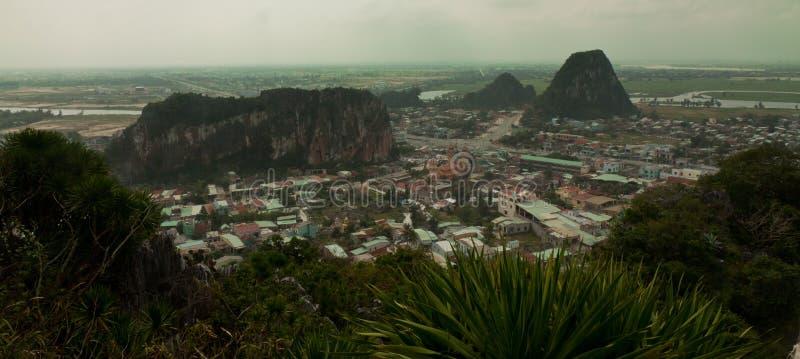 从大理石山的看法,岘港市,越南 免版税图库摄影