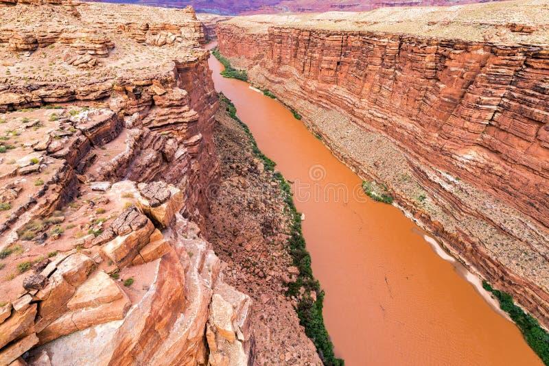 大理石峡谷和科罗拉多河 免版税图库摄影