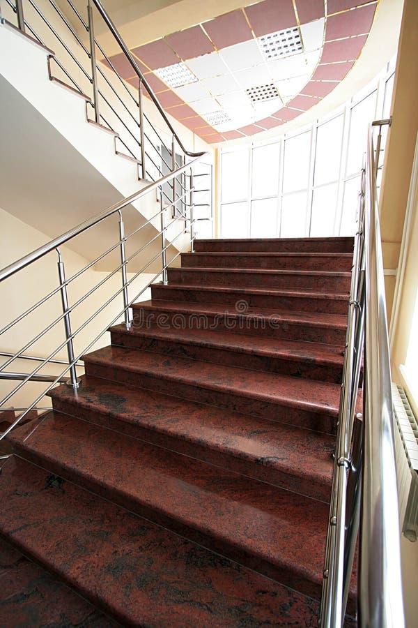 大理石楼梯 图库摄影