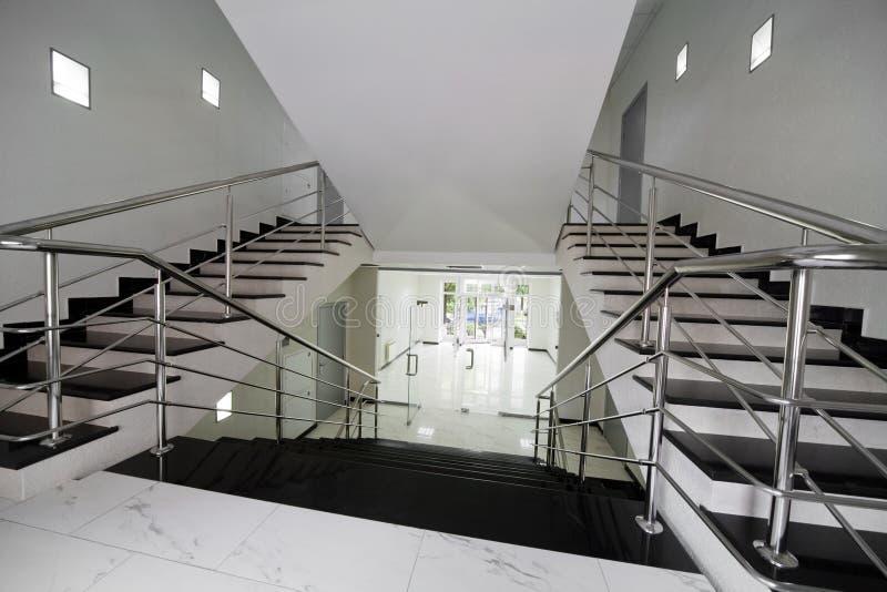 大理石楼梯 免版税库存照片