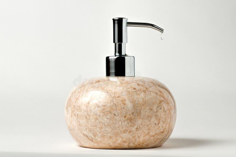 大理石液体皂分配器 免版税库存照片