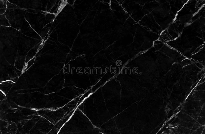 黑大理石纹理背景,从自然的详细的真正大理石 免版税库存图片