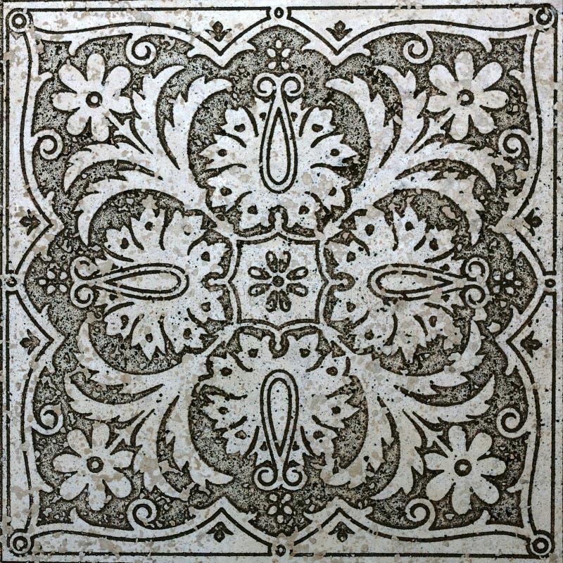 大理石老装饰物 免版税库存图片