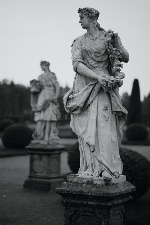 大理石雕塑。Peterhof,圣彼得堡 库存图片