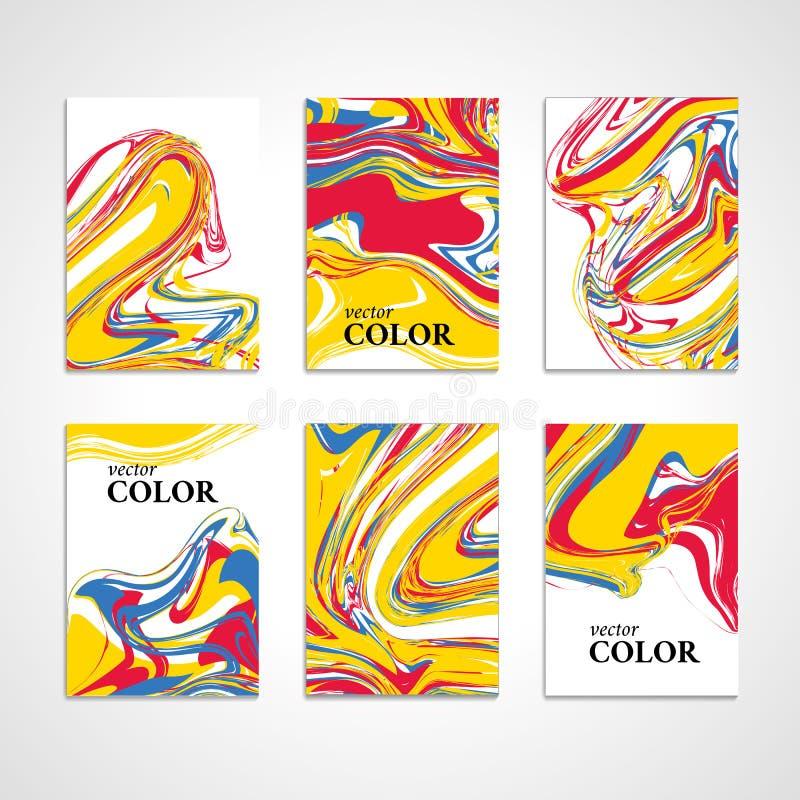 大理石颜色纹理卡片背景 向量例证