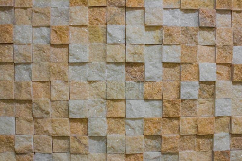 大理石马赛克,立方体 免版税库存图片
