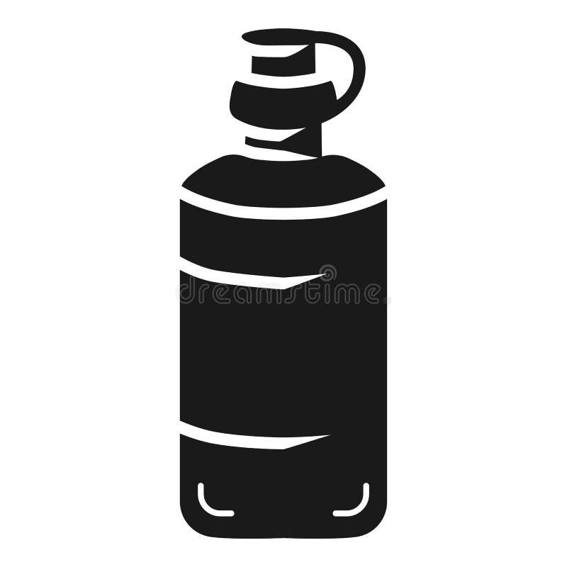 大瓶胶浆象,简单的样式 皇族释放例证
