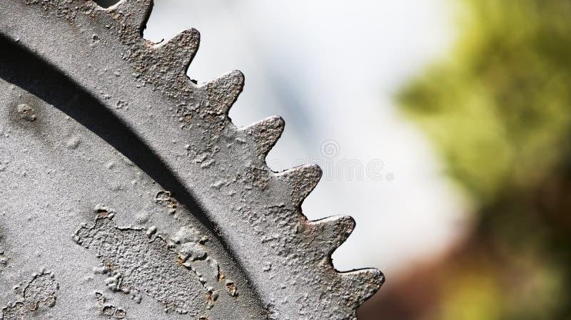 大生锈的齿轮对比视图 免版税库存照片