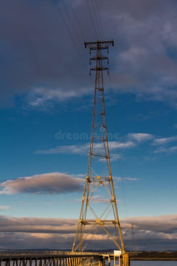 大电子定向塔, Severn出海口,英国 免版税图库摄影