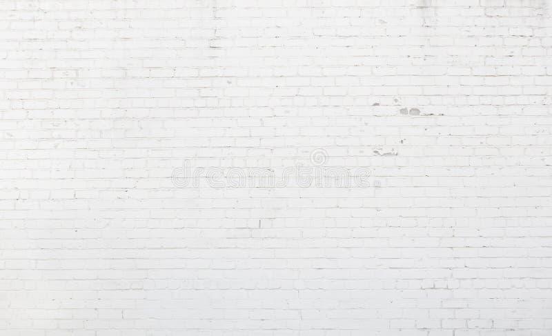 大白涂料砖墙纹理 库存照片