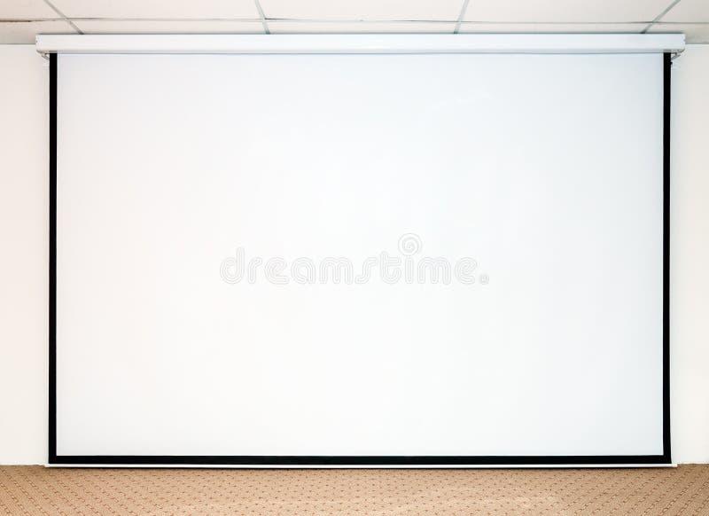 大白色屏幕 图库摄影